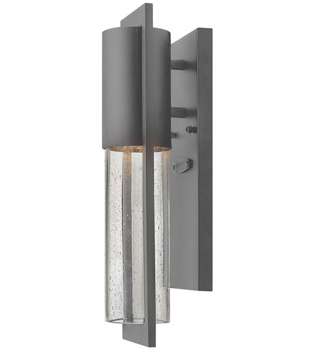 Hinkley Lighting Dwell 1 Light Outdoor Wall Lantern in Hematite 1326HE