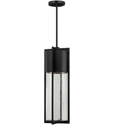 Hinkley Lighting Dwell 1 Light Outdoor Hanging Lantern in Black 1328BK-LED
