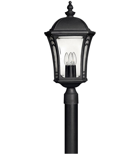 Hinkley Lighting Wabash 1 Light LED Post Lantern (Post Sold Separately) in Museum Black 1331MB-LED