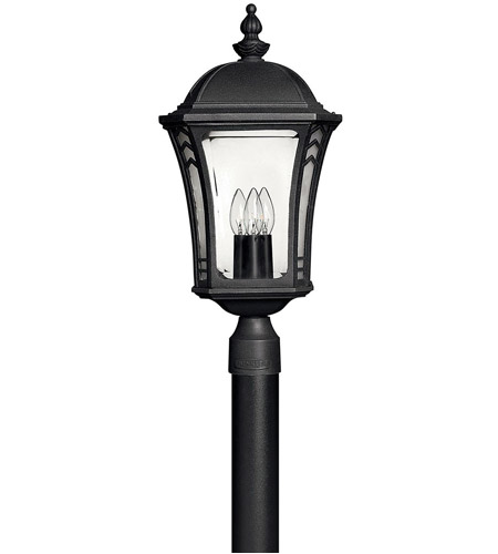Hinkley 1331MB Wabash 3 Light 23 inch Museum Black Outdoor Post Mount, Post Sold Separately photo