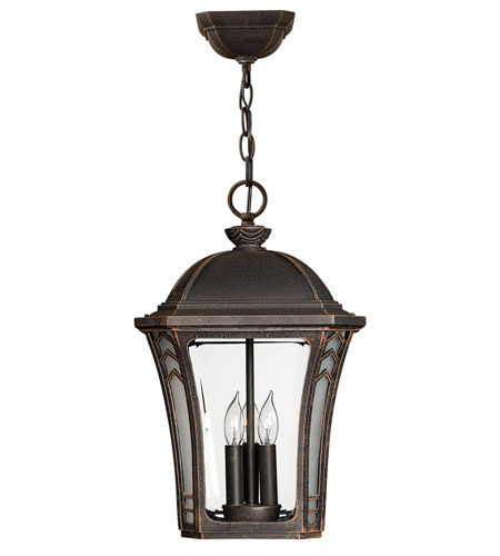 Hinkley Lighting Wabash 1 Light Outdoor Hanging Lantern in Mocha 1332MO-LED