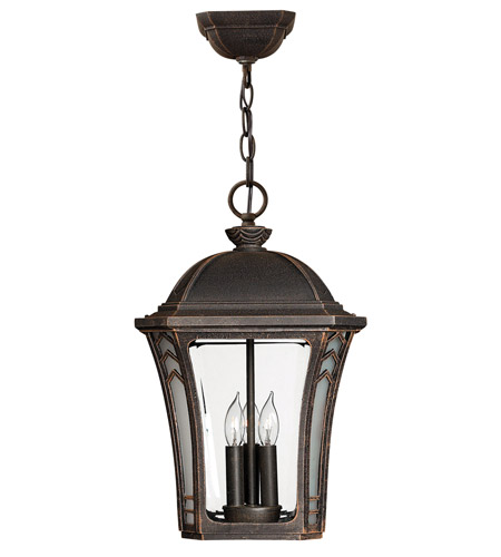 Hinkley Lighting Wabash 3 Light Outdoor Hanging Lantern in Mocha 1332MO