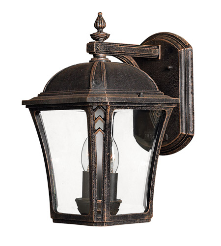 Hinkley 1334MO Wabash 2 Light 14 inch Mocha Outdoor Wall Lantern in Incandescent photo
