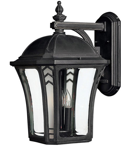 Hinkley Lighting Wabash 1 Light Outdoor Wall Lantern in Museum Black 1335MB-LED