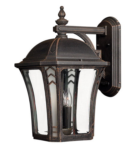 Hinkley Lighting Wabash 1 Light Outdoor Wall Lantern in Mocha 1335MO-LED