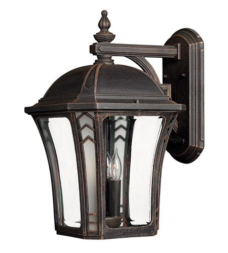 Hinkley 1335MO Wabash 3 Light 19 inch Mocha Outdoor Wall Lantern in Incandescent photo