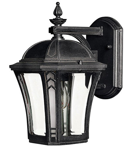 Hinkley Lighting Wabash 1 Light LED Outdoor Wall in Museum Black 1336MB-LED