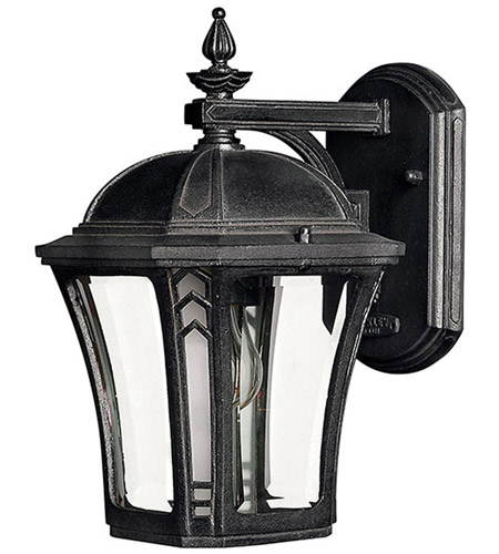 Hinkley 1336MB Wabash 1 Light 11 inch Museum Black Outdoor Wall Lantern in Incandescent photo