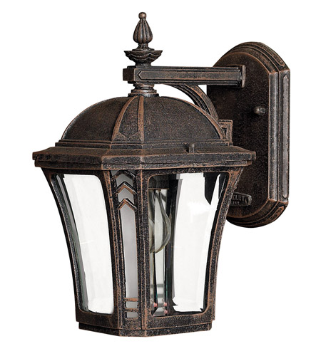 Hinkley 1336MO Wabash 1 Light 11 inch Mocha Outdoor Wall Lantern in Incandescent photo
