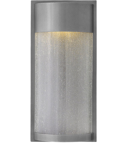 Hinkley 1344HE Shelter LED 18 inch Hematite Outdoor Wall Mount, Clear Seedy Glass photo
