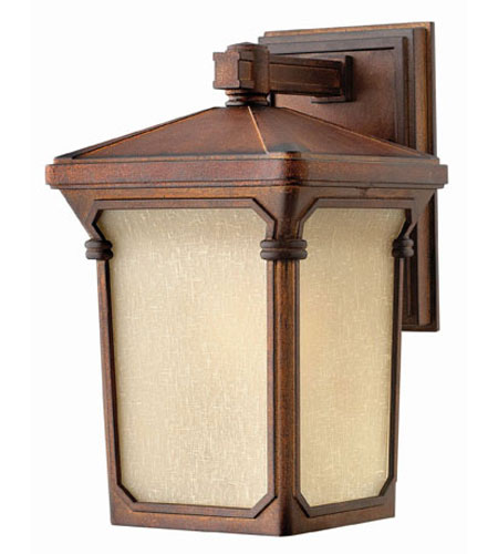 Hinkley Lighting Stratford 1 Light Outdoor Wall Lantern in Auburn 1350AU-LED