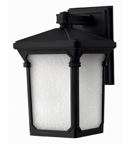 Hinkley Lighting Stratford 1 Light Outdoor Wall Lantern in Museum Black 1350MB-ES