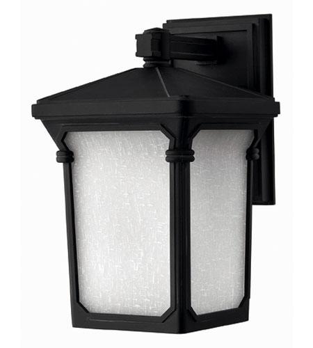 Hinkley Lighting Stratford 1 Light Outdoor Wall Lantern in Museum Black 1350MB-ESDS