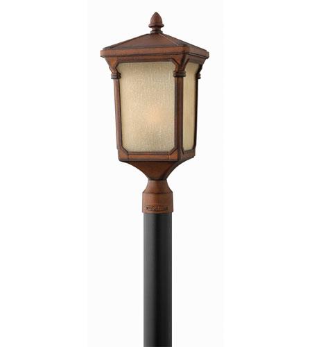 Hinkley Lighting Stratford 1 Light Post Lantern (Post Sold Separately) in Auburn 1351AU-ES