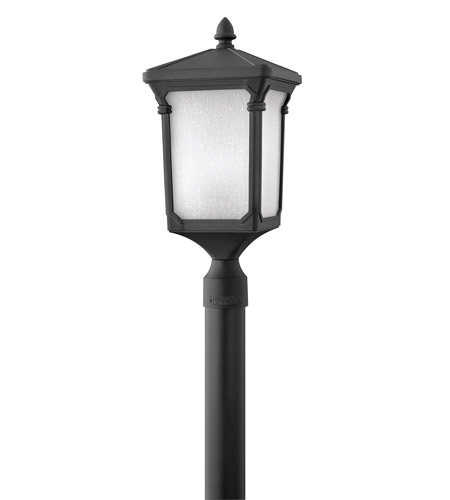 Hinkley Lighting Stratford 1 Light GU24 CFL Post Lantern (Post Sold Separately) in Museum Black 1351MB-GU24