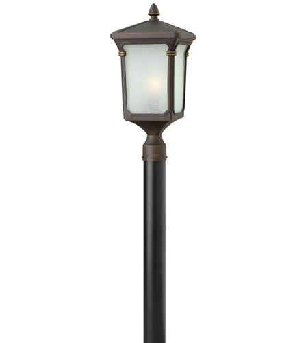 Hinkley Lighting Stratford 1 Light GU24 CFL Post Lantern (Post Sold Separately) in Oil Rubbed Bronze 1351OZ-GU24