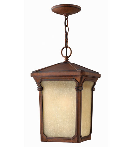 Hinkley Lighting Stratford 1 Light Outdoor Hanging Lantern in Auburn 1352AU-ES