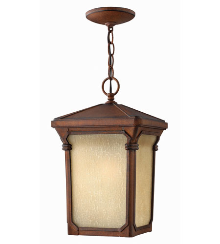 Hinkley Lighting Stratford 1 Light Outdoor Hanging Lantern in Auburn 1352AU-ESDS