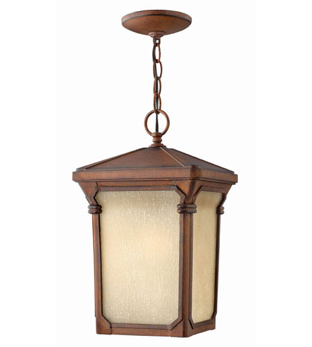 Hinkley Lighting Stratford 1 Light Outdoor Hanging Lantern in Auburn 1352AU-LED