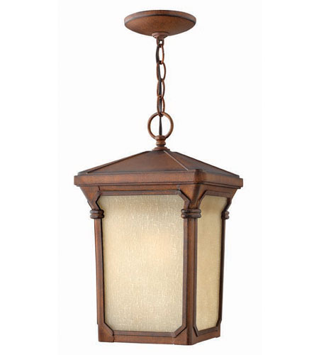 Hinkley Lighting Stratford 1 Light Outdoor Hanging Lantern in Auburn 1352AU