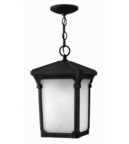 Hinkley Lighting Stratford 1 Light Outdoor Hanging Lantern in Museum Black 1352MB-DS