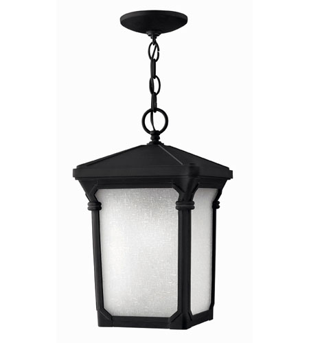 Hinkley Lighting Stratford 1 Light Outdoor Hanging Lantern in Museum Black 1352MB-ES