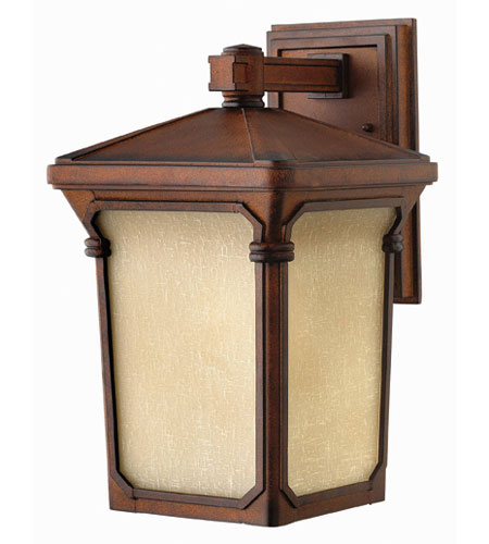 Hinkley Lighting Stratford 1 Light Outdoor Wall Lantern in Auburn 1354AU-ESDS