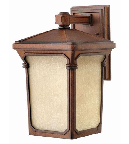 Hinkley Lighting Stratford 1 Light Outdoor Wall Lantern in Auburn 1354AU-LED