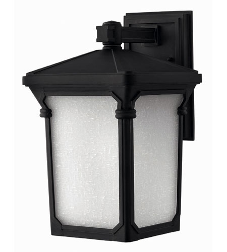 Hinkley Lighting Stratford 1 Light Outdoor Wall Lantern in Museum Black 1354MB-DS photo