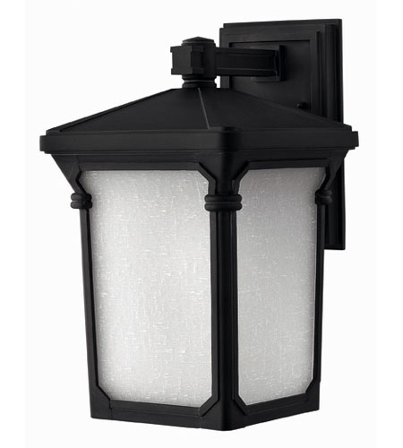 Hinkley Lighting Stratford 1 Light Outdoor Wall Lantern in Museum Black 1354MB-ESDS