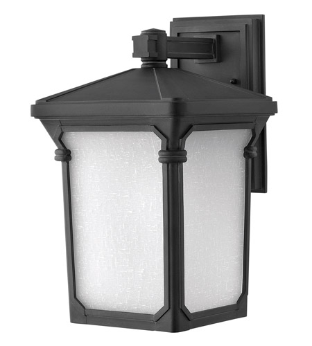 Hinkley Lighting Stratford 1 Light Outdoor Wall Lantern in Museum Black 1354MB