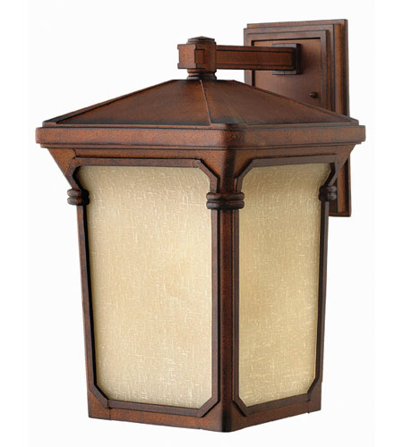 Hinkley Lighting Stratford 1 Light Outdoor Wall Lantern in Auburn 1355AU-ESDS