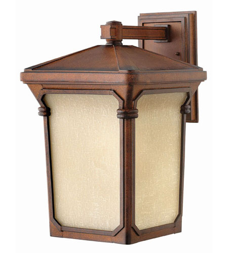 Hinkley Lighting Stratford 1 Light Outdoor Wall Lantern in Auburn 1355AU-LED photo