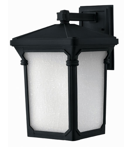Hinkley Lighting Stratford 1 Light Outdoor Wall Lantern in Museum Black 1355MB-DS