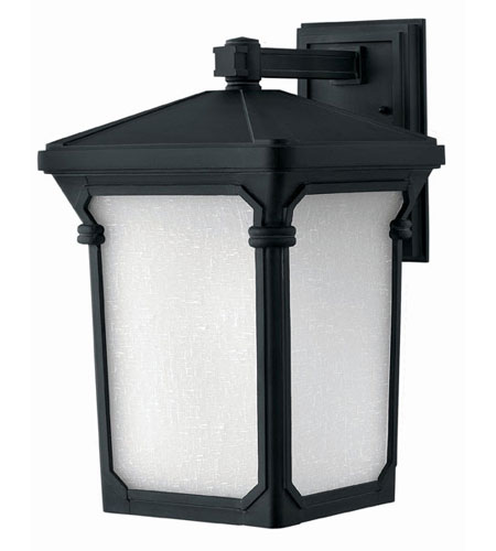 Hinkley Lighting Stratford 1 Light Outdoor Wall Lantern in Museum Black 1355MB-LED