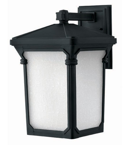 Hinkley Lighting Stratford 1 Light Outdoor Wall Lantern in Museum Black 1355MB