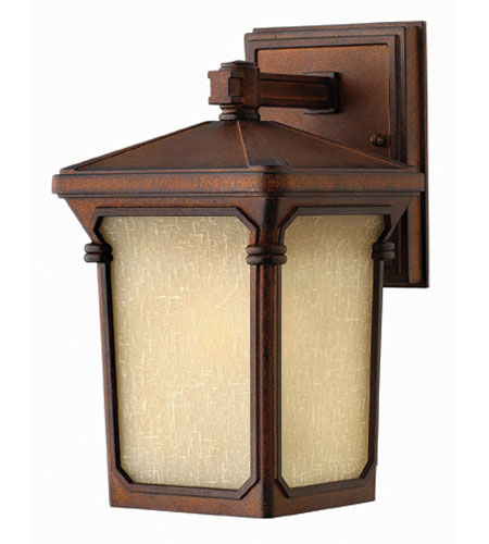 Hinkley Lighting Stratford 1 Light Outdoor Wall Lantern in Auburn 1356AU-ES