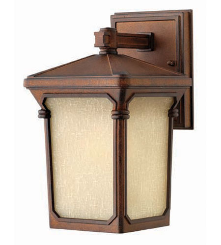 Hinkley Lighting Stratford 1 Light Outdoor Wall Lantern in Auburn 1356AU