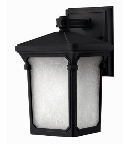Hinkley Lighting Stratford 1 Light Outdoor Wall Lantern in Museum Black 1356MB-DS