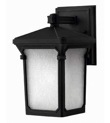 Hinkley Lighting Stratford 1 Light Outdoor Wall Lantern in Museum Black 1356MB-ES photo
