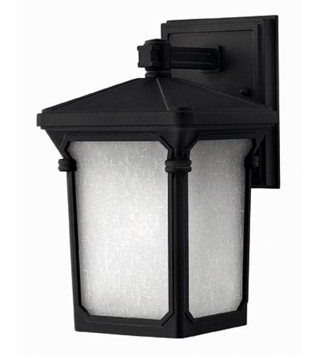 Hinkley Lighting Stratford 1 Light Outdoor Wall Lantern in Museum Black 1356MB-ES