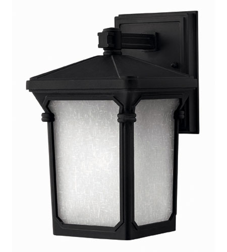 Hinkley Lighting Stratford 1 Light Outdoor Wall Lantern in Museum Black 1356MB-ESDS photo