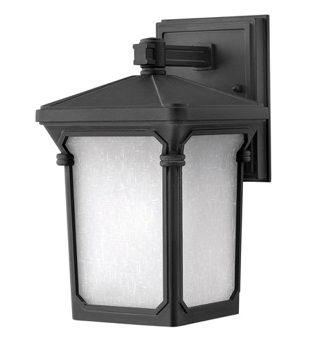 Hinkley Lighting Stratford 1 Light Outdoor Wall Lantern in Museum Black 1356MB photo