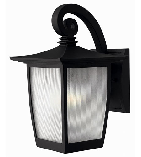 Hinkley Lighting Pearl 1 Light Outdoor Wall Lantern in Black 1360BK-ESDS