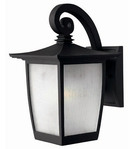 Hinkley Lighting Pearl 1 Light Outdoor Wall Lantern in Black 1360BK