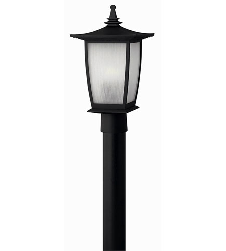 Hinkley Lighting Pearl 1 Light Post Lantern (Post Sold Separately) in Black 1361BK-ES