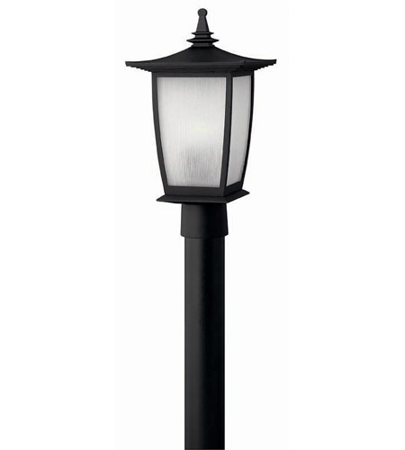 Hinkley Lighting Pearl 1 Light Post Lantern (Post Sold Separately) in Black 1361BK