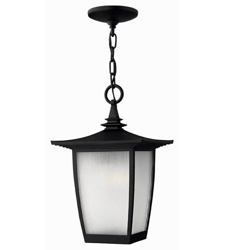 Hinkley Lighting Pearl 1 Light Outdoor Hanging Lantern in Black 1362BK-DS