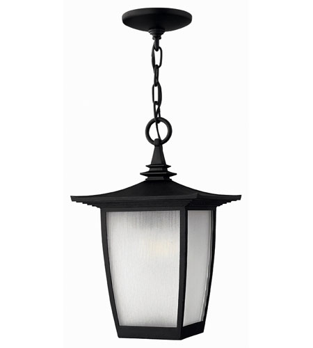 Hinkley Lighting Pearl 1 Light Outdoor Hanging Lantern in Black 1362BK-ES