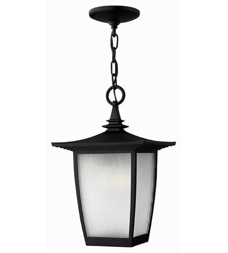 Hinkley Lighting Pearl 1 Light Outdoor Hanging Lantern in Black 1362BK-ES photo